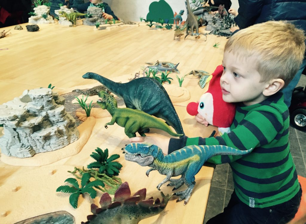 Holden in the Dinosaur Play Area