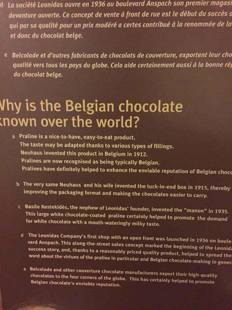The Belgian Chocolate Story
