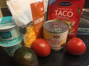 Tex-Mex Dip Ingredients