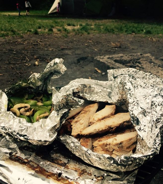 Grilled Fajitas and Peppers