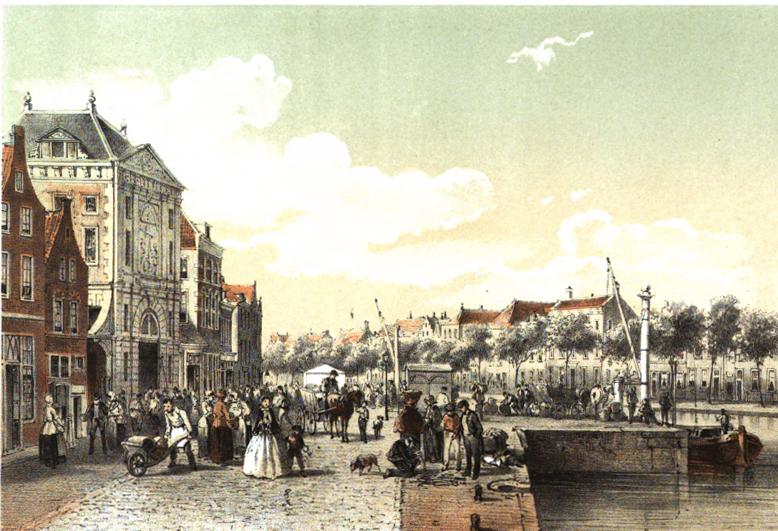 De Waag in 1859