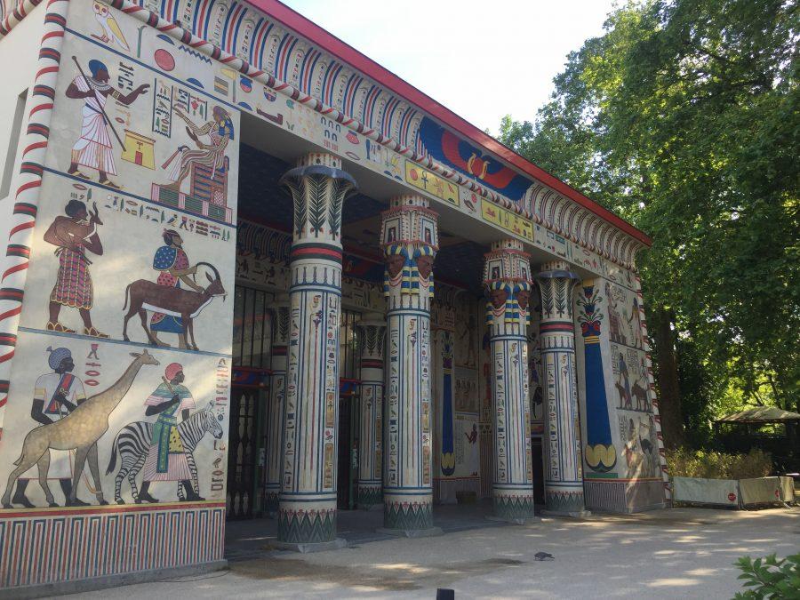 Egyptian temple housing the elephants
