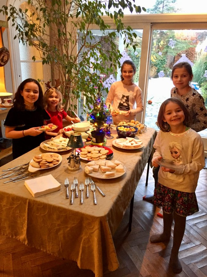 Around the food table