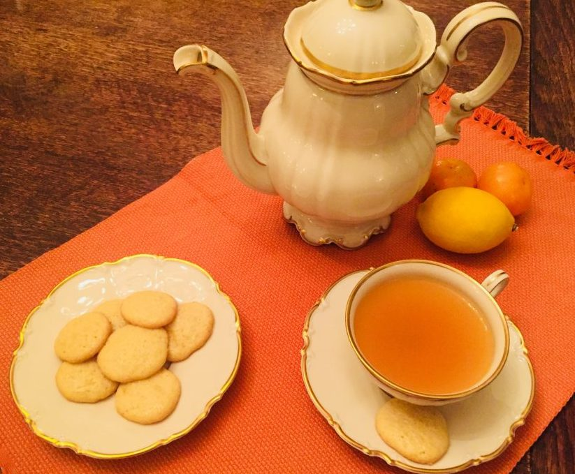 Sunshine Lemon Tea Cookies