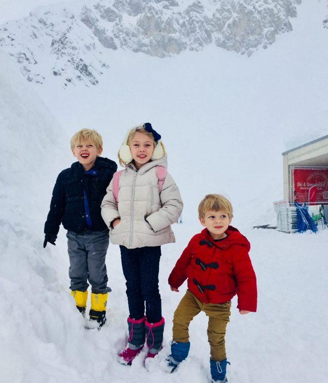 Kids on the mountain