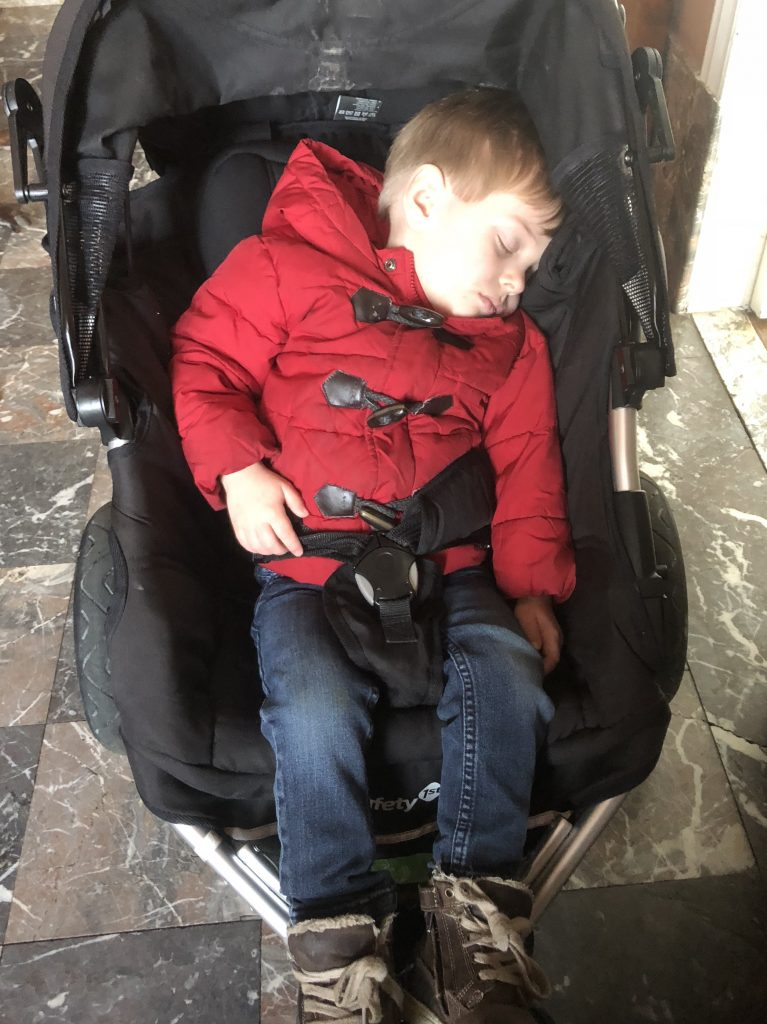 Asleep in the Stroller Before We Even Get Home on Tuesdays