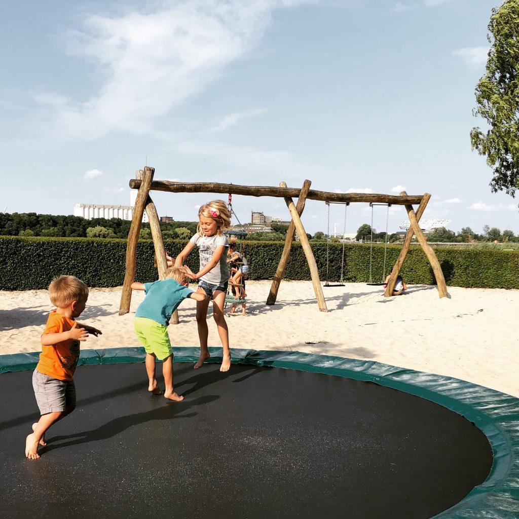 Kids at the restaurant playground